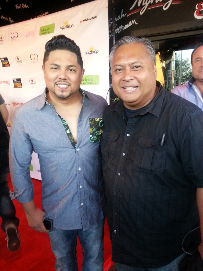 Comedian Joey Guila with FilAm Creative board member/Music Publisher Rex Sampaga.