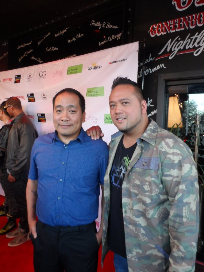 Special guest comic Kevin Camia and featured comedian Ron Josol.